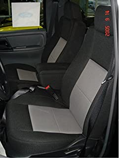 Durafit Seat Covers F282-Black/Gray - Ranger XLT Pickup 60/40 Bench Seat with Opening Console. Black/Gray Automotive Velour