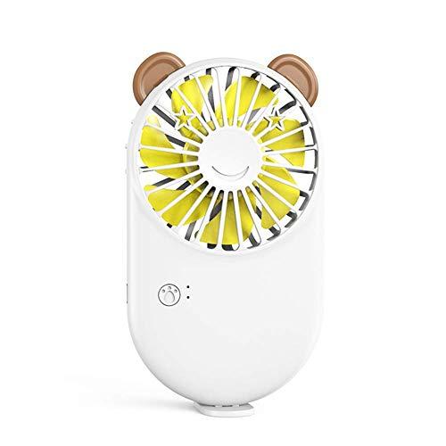 YLLN Mini Ventilador USB Ventiladores eléctricos pequeños portátiles Ventiladores portátiles Ventilador silencioso portátil Alimentado por batería