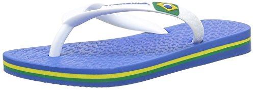 Ipanema Classic Brasil II Kids, Chanclas Unisex niños, Bleu Blue White, 32 EU