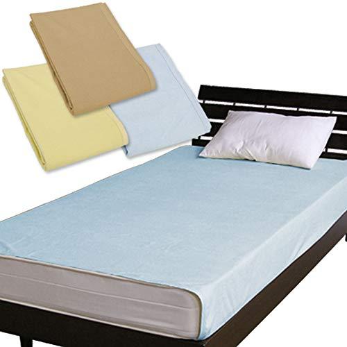 メーカー直販ベッド用 防水シーツ(おねしょ・介護用シーツ)フリーサイズ(ダブル~クイーン使用可)200×240cmブルー