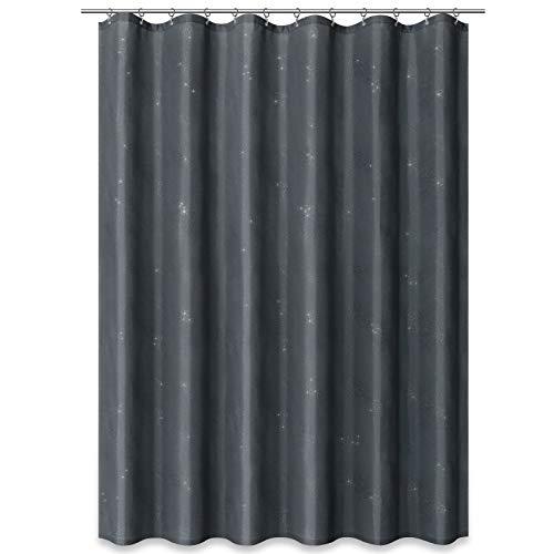 ROLLER Duschvorhang - grau - mit Glitzer - 180x200 cm