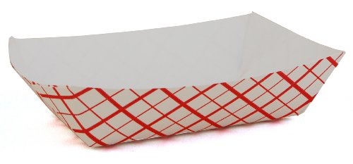Southern Champion Tray 0401 #25 Southland Paperboard Red Check Food Tray, 1/4 lb Capacity (Case of 1000) (0.25 Lb Head)