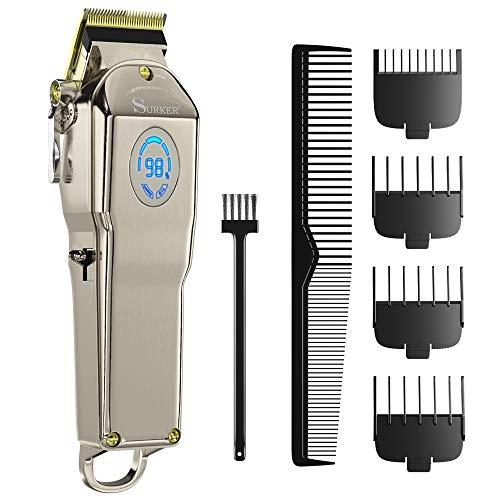 homeasy Haarschneider Maschine SET 0mm Rasierer Haare Kabelloser Haartrimmer Profi Elektrischer Haarscherer mit Aufsatzkämmer von 0,8 bis 32,8mm für Erwachsene und Kinder