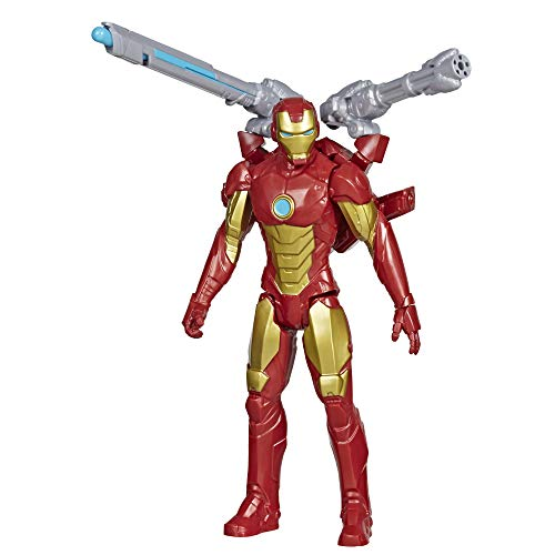 Avengers - Iron Man (Action Figure 30cm con Blaster Titan Hero Blast Gear)