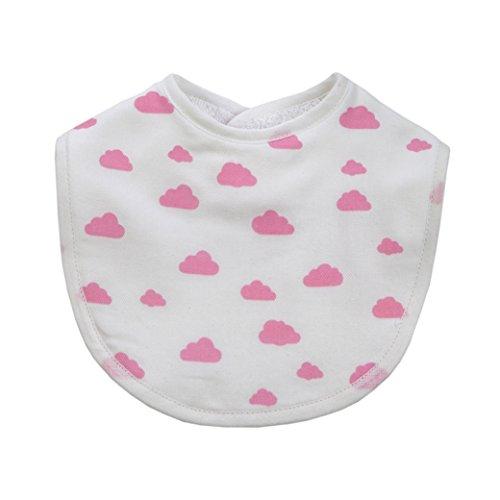 Runft Baby Care Organic katoen Twin Pack BABETE slabbetje (roze wolken)