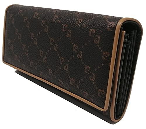PIERRE CARDIN Portefeuille femme, beau, grand, espace, cuir, rfix, cadeau, portefeuille avec porte-monnaie, porte-billets, portefeuille fille, marron,