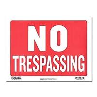 サインプレート Sサイズ 立入禁止【NO TRESPASSING】Sign Plate 看板 ガレージ インテリア アメリカン雑貨