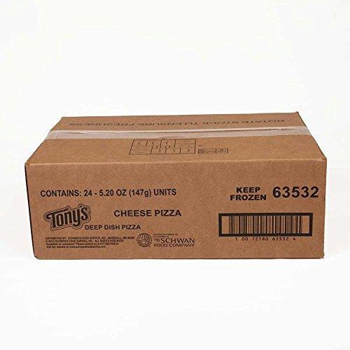 Schwans Tonys Cheese Par Baked Deep Dish Pizza, 5.5 Ounce -- 24 per case.