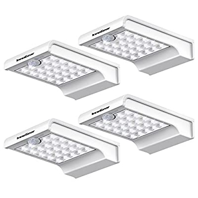 InnoGear 24 LED Solar Lights Dim to Bright Motion Sensor Outdoor Wall Light Security Night Light for Gutter Patio Garden Path, Pack of 4