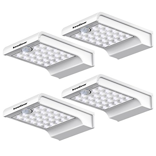 InnoGear 24 LED Solar Lights Dim to Bright Motion Sensor Outdoor Wall Light Security Night Light for...