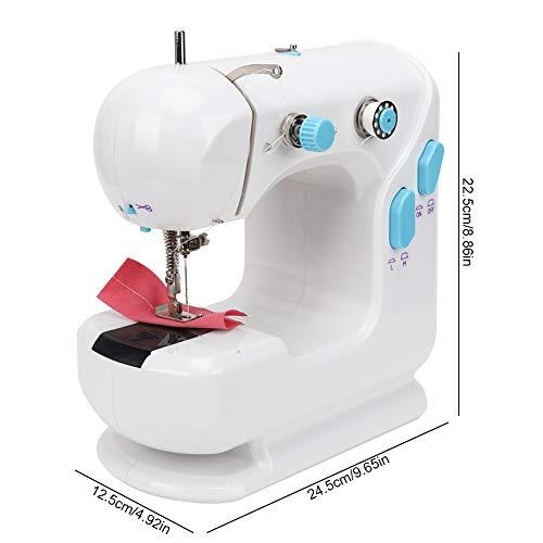 Máquina de coser herramienta de bordado 110-240V portátil, para escritorio doméstico con equipo de rebobinado para facilitar(#1, Transl)