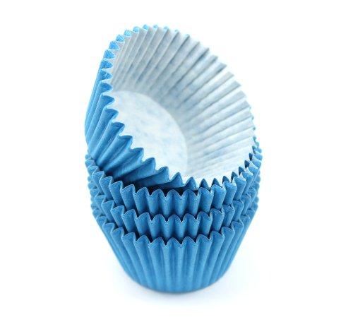 Turtle Brand Muffin-/Cupcakeförmchen, hochwertig, Blau, 48 Stück