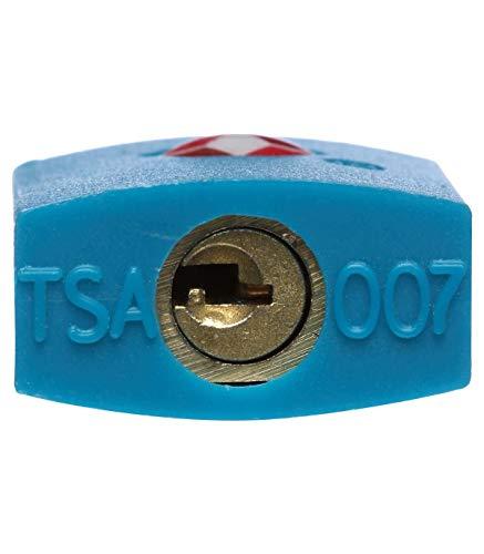 TSA Vorhängeschloss - 2 Schlüssel - 3 Farben