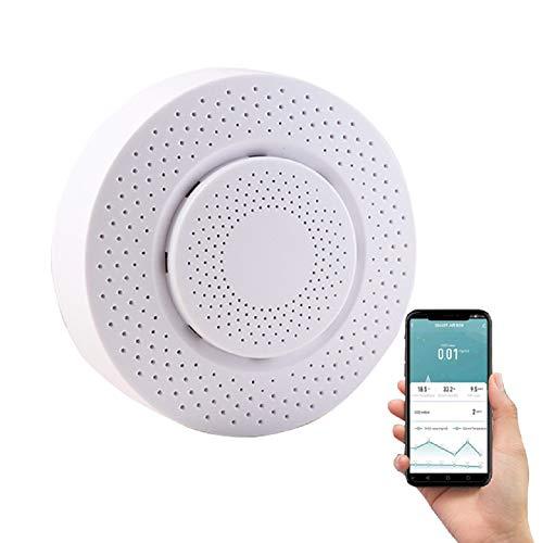 Tuya Wifi Zigbee 5 in 1 Smart Monitor di temperatura e umidità, rilevatore di fumo e CO2 per interni ed esterni con telecomando APP per smartphone