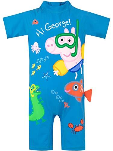 Peppa Pig Bañador para Niño George Pig Azul 12-18 Meses