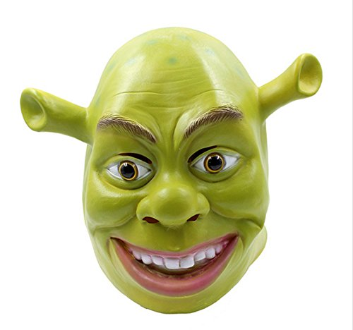 Grappig groen Shrek Cosplay masker Halloween Fancy jurk kostuum latex masker UK