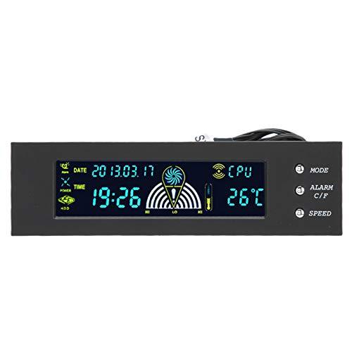 Dator 3-fläkthastighetsregulator, CPU/HDD/SYS Temperaturkontroll LCD-frontpanel 5,25 tum fläktkontroll