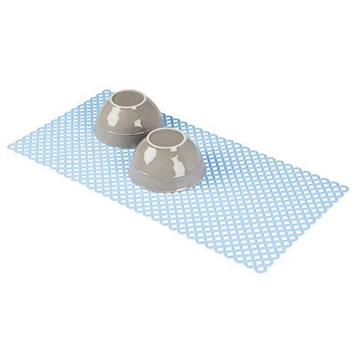 mDesign Decorative Kitchen Sink Dish Drying Mat/Grid - Plastic Farmhouse Sink Protector, Cushions...
