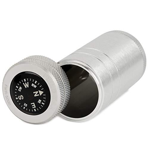 WINDMILL(ウインドミル)携帯灰皿フィールドマックス5000スライド式アルミ製コンパス付きシルバー582-0005