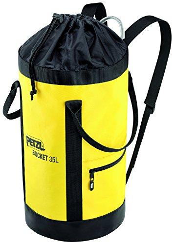 Petzl s41ay 035Bucket Stoff Pack, bleibt aufrecht, 35l, schwarz/gelb