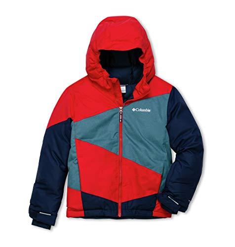 Columbia Jungen Ski-Jacke, Wildstar, Rot (Mountain Red, Blue Heron Heather), XXS