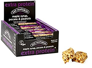 Eat Natural Extra Protein Cereal Bars - Maple Syrup, Pecans & Peanuts Snack Bars - 45g x 12 Pack - Gluten-Free Vegan Snack Bars - Healthier Snacks for Adults (B01M7UYF1Y) | Amazon price tracker / tracking, Amazon price history charts, Amazon price watches, Amazon price drop alerts