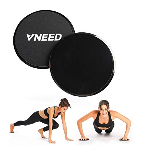 【2020 Update】 Core Exercise Sliders (Set of 2), Smooth Gliders Dual-Sided Design, Use on...