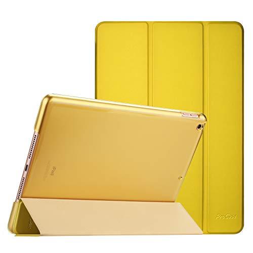ProCase Hülle für iPad 10.2 Zoll 2019 7th Generation(A2197/A2198/A2200) Dreifach Falt Klapp Schutzhülle Case,Ultra Dünn Leicht Ständer Schale Smart Cover mit Translucent Frosted Rückhülle –Antik Moos