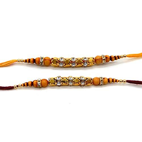 Preisvergleich Produktbild Satz von zwei Rakhi Thread Raksha Bandhan Geschenk für Ihren Bruder Vary Color variieren und Multi-Design