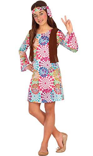 ATOSA disfraz hippie niña infantil multicolor 10 a 12 años