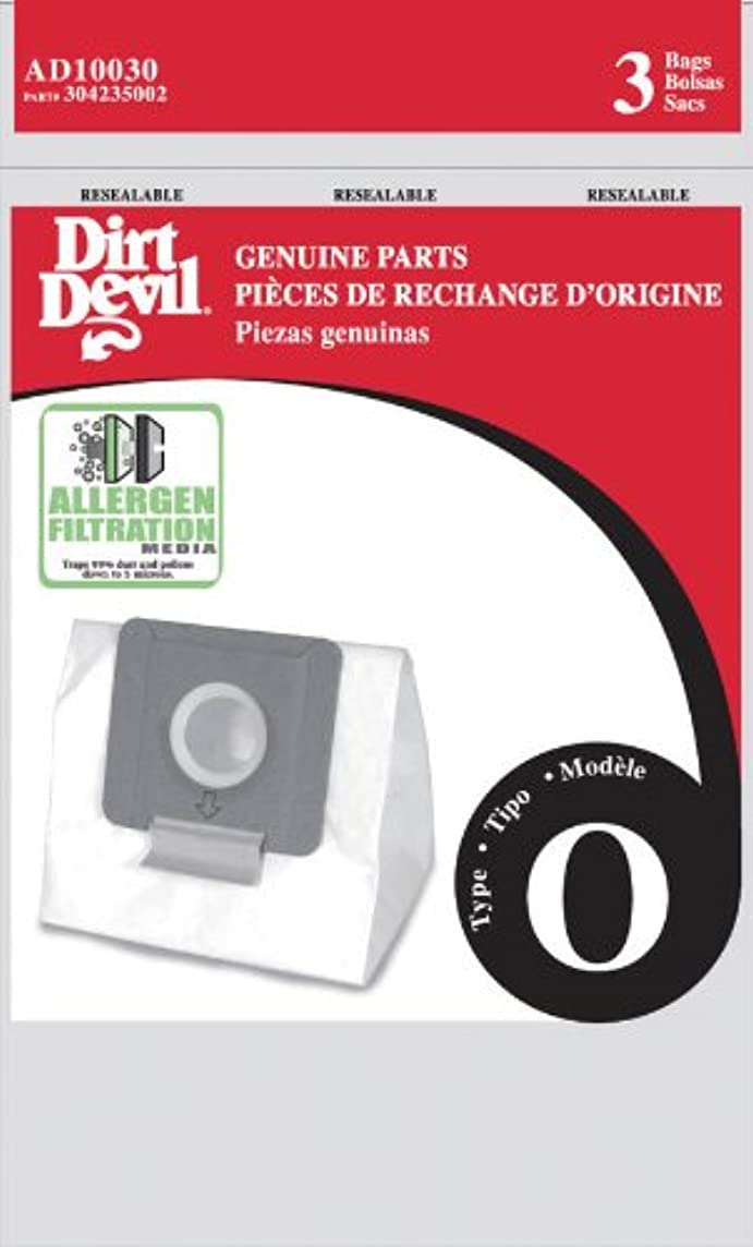 Dirt Devil Type O Allergen Vacuum Bags (3-Pack), AD10030