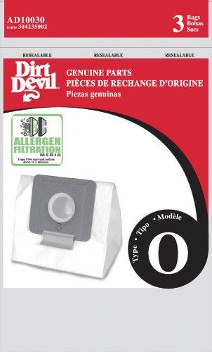 Dirt Devil Type O Allergen Vacuum Bags (3-Pack), AD10030