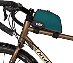 Two Wheel Gear - Commute Top Tube Frame Bag (1 L) - Water Resistant Gas Tank Style Bike Bag with Waterproof Zippers, Perfect for Mountain Biking, Commuting, and Touring