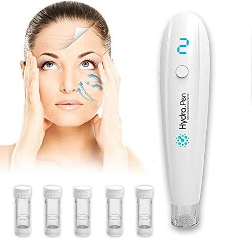 ZNXY Mikronadelung Hydra Pen H2 Elektrische Hyaluronsäure Pen Automatisch Serum Applikator Skin Care Tool LED-Anzeige für die Häusliche Hautpflege,Penset