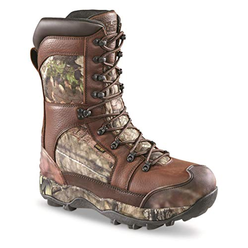 Guide Gear Monolithic Extreme Waterproof Insulated Hunting Boots, 2,400-gram Thinsulate Ultra, Mossy Oak Break-Up Country, 10.5D (Medium)