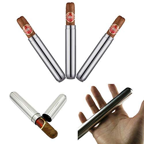 3 Stücke 16,5 cm Edelstahl Zigarre Rohr Fall Halter Container