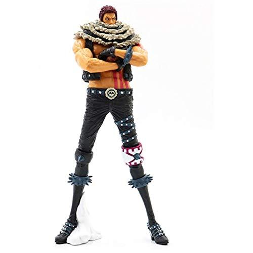 MaiQiLai 25cm Big Size One Piece Figure Charlotte Katakuri PVC Action Figures King of Artist Fighting Katakuri Figure Collection Toys Collection Model Toys Doll Anime Gifts