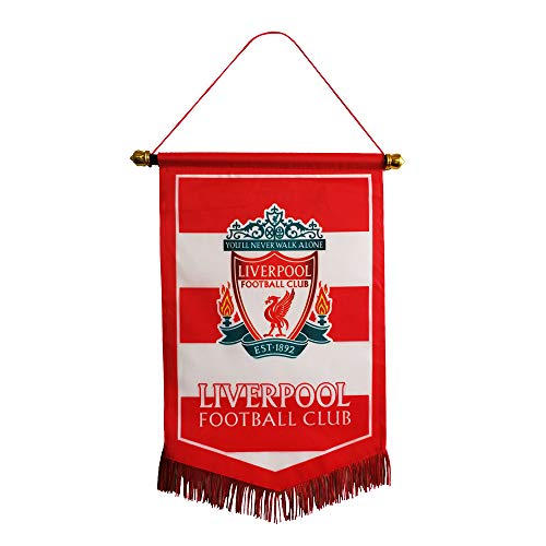 "Louishop Football Club Indoor and Outdoor Flags Vivid Color Hanging Flags Decor for Bedroom/Club/Bar/Office 15""x9.4""(Liverpool)"