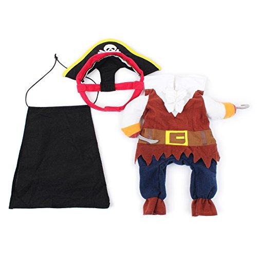 Générique Costume Pirate Vêtements Déguisement pour Animal de Compagnie Chien Chat - M