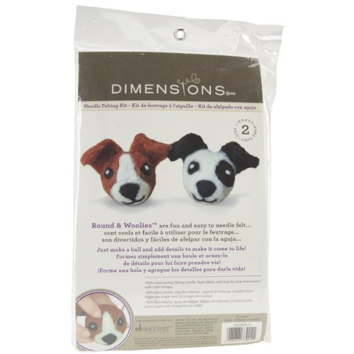 Dimensions Needlecrafts Round and Wooly Dogs Needle Felting Kit