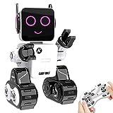 HBUDS Robot télécommandé et Cadeau pour Enfants, Robot interactif avec Contrôle Tactile et sonore, Mouvements de Danse, Joue Musique, Tirelire intégrée, Kit Robot programmable et Rechargeable
