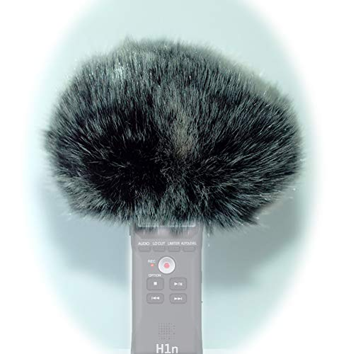 YH & YX Wind Tech - Parabrezza in pelliccia per parabrezza compatibile con Zoom h1n Handy Digital Recorder (Zoom H1N)