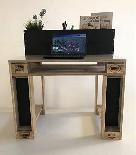 Palettenmöbel, moderner Schreibtisch in Palettenoptik Vintage gebeizt und in Handarbeit hergestellt.