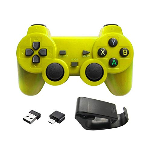 NO LOGO TZZD 2.4G Gamepad for Xiaomi 9 iPhone Samsung Android Tipo C Controlador de teléfono de la PC TV Box Consola PS3 Joystick Joypad Mango (Color : Android Yellow)