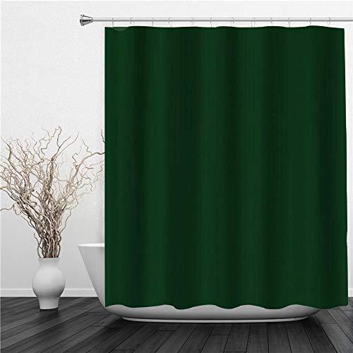 SUHETI Duschvorhang 180x180cm,Dunkelgrün,Duschvorhang Wasserabweisend-Duschvorhangringen 12 Shower Curtain mit