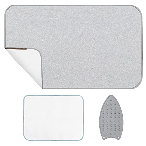 Refrze Magnetic Ironing Mat, Ironing Pad for Table Top, Countertop, Washer, Dryer, Thickened Heat Resistant Ironing Blanket 19 X 33 Inch