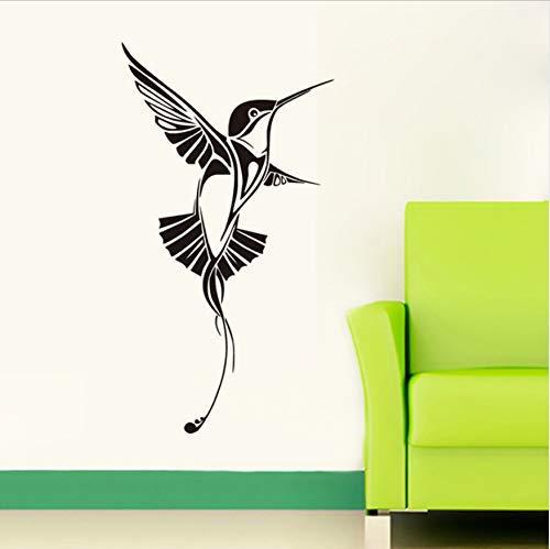 Singen Kolibri Wandtattoos Schlafzimmer Vinyl Wandaufkleber Wohnzimmer Wohnkultur Vogel Kunst Aufkleber 60X33Cm