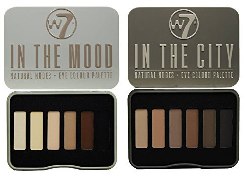 W7 In The City & In The Mood Natural Nudes Eye Shadow Palette Set by W& by W7