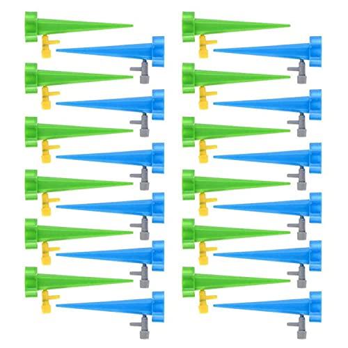 Foraco 24 Pezzi di dispositivi di irrigazione per Piante,Punte autoirriganti con valvola di Controllo a Rilascio Lento, Sistema di irrigazione da Giardino per Piante da Interni/Esterni (24 PCS)