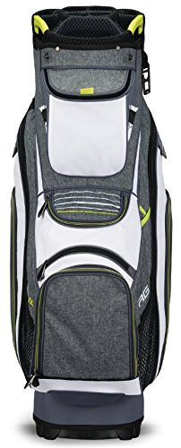 Callaway Golf 2018 Org 14 Cart Bag, Titanium/ White/ Neon Yellow